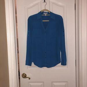 Blue blouse top!